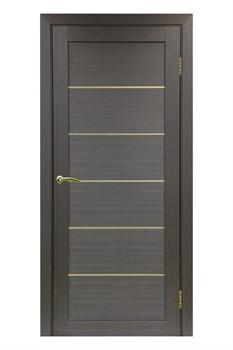 "Межкомнатная дверь "" ТУРИН 501.1 АПП Молдинг Золото "" Optima porte Экошпон - фото 22608"