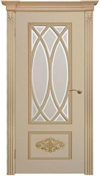 """Межкомнатная дверь """" Флоренция 2 """" ЭМАЛЬ Остеклённая Комфорт - фото 22636"""