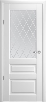 """Межкомнатная дверь """" ТУРИН 4  """" ЭМАЛЬ Остеклённая Комфорт - фото 22661"""