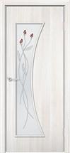 стекло-матовое белое с рисунком
