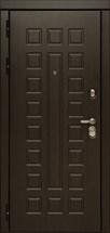 Входная металлическая дверь Дива МД-30 с зеркалом (Венге / Дуб белёный)