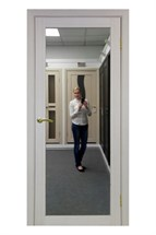 "Межкомнатная дверь "" ТУРИН 501.1 Зеркало "" Optima porte Экошпон"